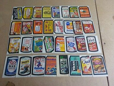 1973-1975 Topps Wacky Packages Lot of 78 Different Sticker Cards Nice Condition!