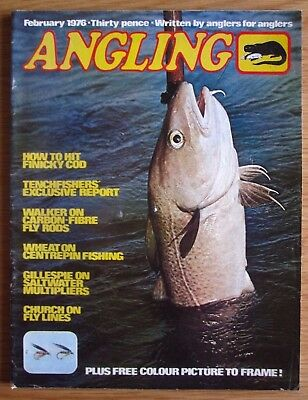 Angling magazine - February 1976 (Rod Hutchinson, Richard Walker, Centrepins)