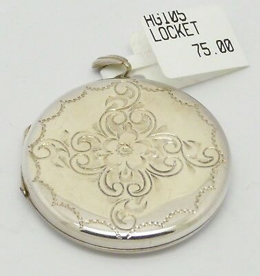Beautiful Vintage Solid Silver Double Locket Hm 1975 Mint Condition Great Gift!