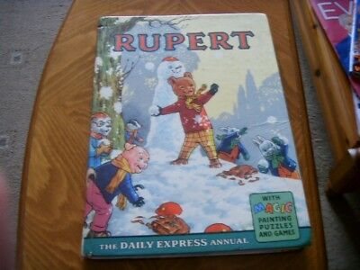 Vintage Rupert Bear Annual 1962 Cliped Daily Express Vg Condition