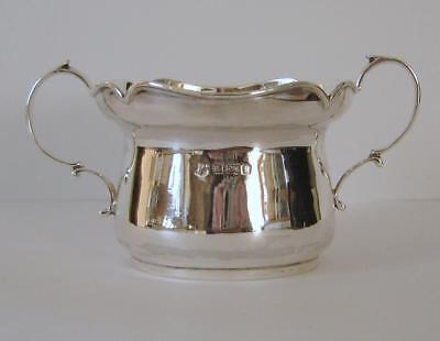 Antique Sterling Silver Sugar Bowl Birmingham 1909 Stewart Dawson & Co 81 Grams