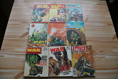 9 WAR PICTURE LIBRARY,COMBAT PICTURE LIBRARY etc