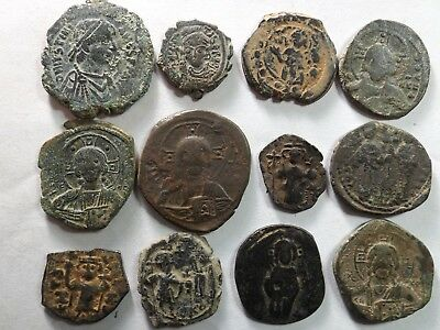 Lot of 12 Quality Larger Roman Byzantine Coins; 93.2 Grams!