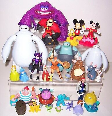 Disney action figures Cake toppers Mickey Mouse Big Hero 6 Incredibles monsters