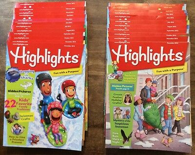Lot of 23 Highlights Magazines 2012-2013