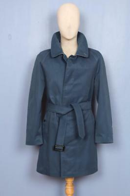 Superb Mens BURBERRY Single Breasted Short TRENCH Coat Mac Blue Size 36