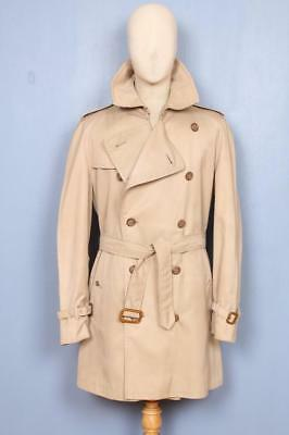 SUPERB Mens BURBERRY Double Breasted Short TRENCH Coat Mac Size XL