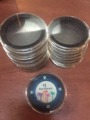 Casino Chip Coin Holder Display Protective Cases 19