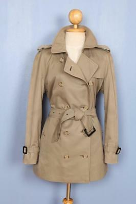 BEAUTIFUL Womens BURBERRY Double Breasted TRENCH Coat Mac Stone 14/16 Lrg