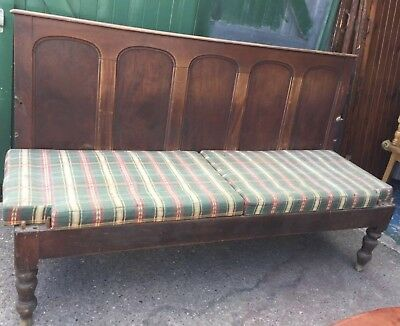 Large pine pew for restoration