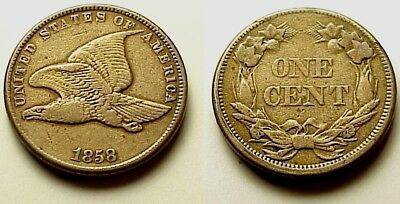 Nearly A/u 1858 Flying Eagle Cent-Sm Letters-Bold Details+Eye Appeal! Free S/h/i