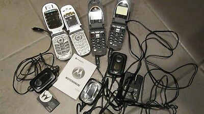 Vintage Cell Phone Lot 18 each with misc accessories