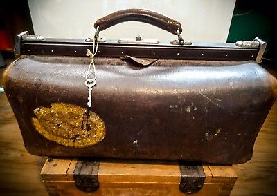 Vintage German Wwii Antique Leather Medical Doctor Surgeon Hand Bag Purse