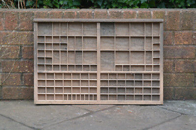 Vintage old wooden printers draw drawer / tray 65 x 44 cm - FREE POSTAGE