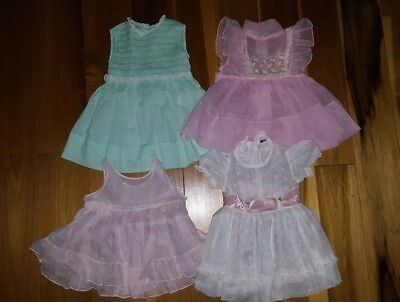 Vintage baby dresses/ lot of 4/ Kate Greenaway keepsake/Nannette/ Wrinkle Frock