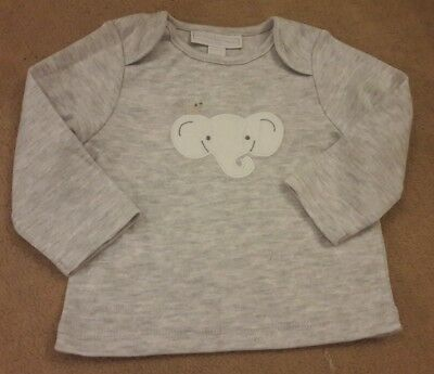 The little white company grey babygrow boys to shirt 0-3 months new