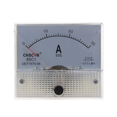 85C1 Analog Current Panel Meter DC 30A AMP Ammeter CT S8S0 K1Q3 B5P1 C3Y3 K T5A9