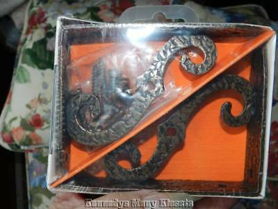 "Vintage McKinney Forged Iron Ornamental Brackets 4""x 3"" Olde Copper Finish NIP"