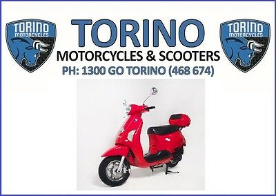 BRAND NEW MY18 TORINO FAMOSA 125cc LEARNER LEGAL SCOOTER RED –$2,690