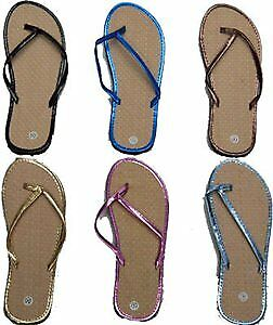 Women's Bamboo Style Flip Flops with Vinyl Straps Case Pack 72