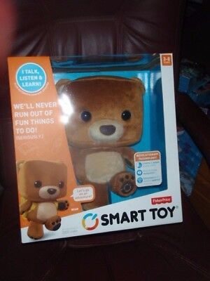 Fisher-Price Smart Interactive Bear Toy Includes 9 Smart Cards,Backpack,Cable