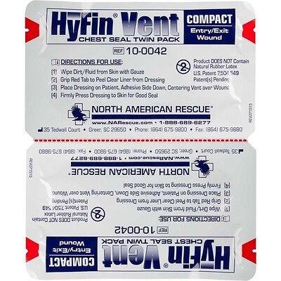 North American Rescue Hyfin Compact Chest Vent Seal Twin Pack