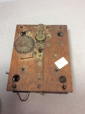 Antique  American Wooden Works Movement, Parts / Repairs