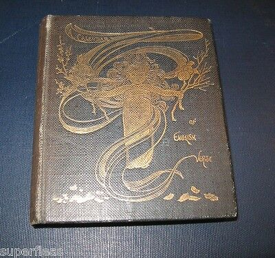 Gold gilded antique book A Calendar of Verse by George Saintsbury  c1900 London