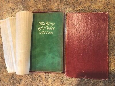 The Way Of Peace / Allen 1907 Original Box And Green Leather/ Cloth Cover