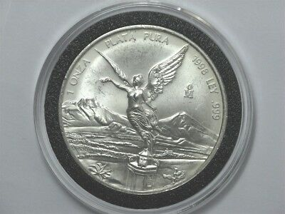 1998 MEXICO Libertad Onza 1 oz. 0.999 SILVER, Key Date! in Black Ring AirTite