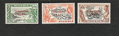 Cameroon SC #74-76 PALM OIL VICTORIA HARBOUR HIDES & SKINS Nigeria MH stamps