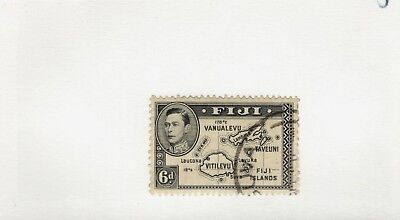 1938 Fiji SCOTT #125 KGVI   MAP WITHOUT 180 DEGREES used stamp