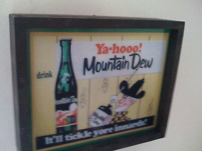 ***Mountain Dew Hillbilly Soda Fountain Diner Kitchen Bar Man Cave Lighted Sign