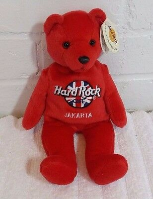 Hard Rock Cafe Collectible Teddy Bear Jakarta Red Rita Beara                (A6)