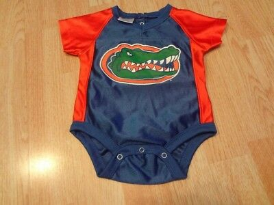 8c0107a9e Infant/Baby Florida Gators 3/6 Mo #00 Jersey Creeper Football Basketball Pro