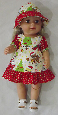 Xmas Dress with Hat, Doll Clothes 4 Baby Born / Baby Alive