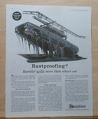 Vintage 1962  magazine ad for Rambler - Deep Dip Nine Step Rustproofing