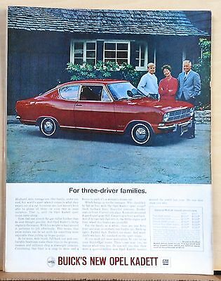 Vintage 1966 magazine ad for Opel Kadett - Sports Coupe for three driver family
