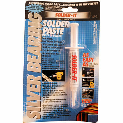Silver Bearing Solder Paste Syringe - Flux blended, ready to use!