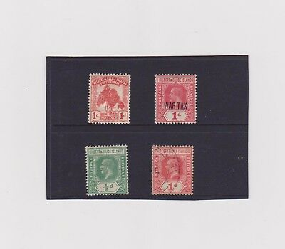 GILBERT & ELLICE IS 1911-18,  1 MNH, 2 MH, 1 used.