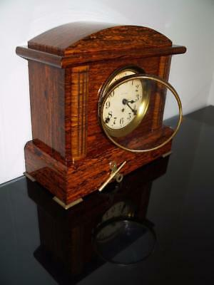 Art Deco S.thomas Rosewood Adamantine Mantel Clock-Serviced Excl. Working Cond.