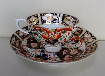 Excellent Early 19th Century Crown Derby Imari Design Porcelain Cup and Saucer