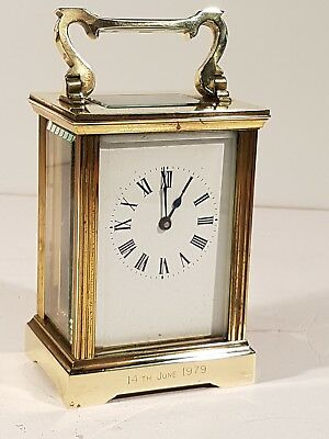 A fine quality Vintage 8 day timepiece Carriage Clock St James House London