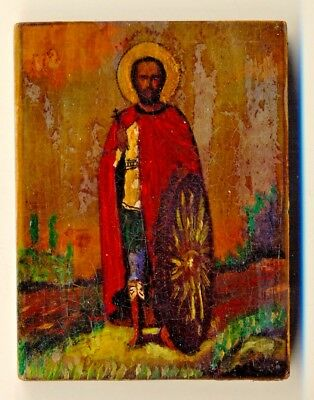 Russian  Imperial Antique Icon  Oil on Wood   (#1979)