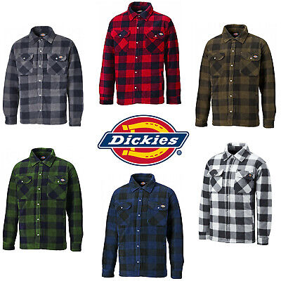 d0eb3d0dcac Dickies Portland Shirt Mens Fleece Padded Lumberjack Stud Work Jacket SH5000