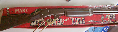 Vintage Marx Toy Super Power Rifle In Great Original Condition & Box