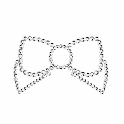 Bijoux Indiscrets Mimi Bow Silver Pasties Skin Jewelry Reusable Lingerie Gift