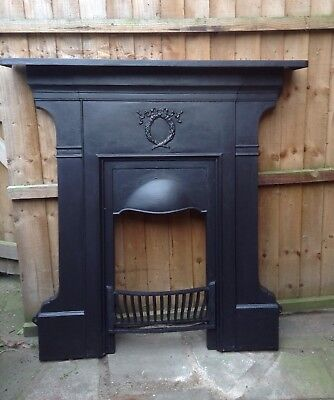 Original cast Iron Edwardian Fireplace Front Only With Bars