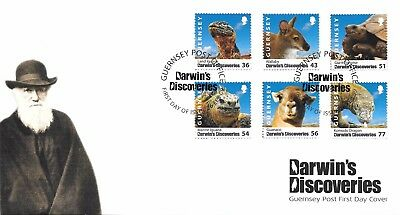 Guernsey FDC. Darwins Discoveries. 26/02/2009.