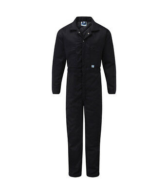 Padded Thermal Coverall Quilted Mechanics Elasticated Overalls Boilersuit